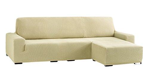 Eysa Cora bielastisch Sofa überwurf Chaise Longue kurzer arm rechts, frontalsicht, Farbe 01-beige, Polyester-Baumwolle, 39 x 35 x 19 cm
