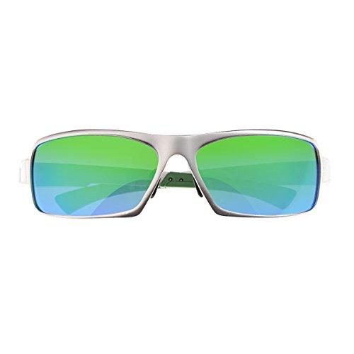 Breed Herren Sonnenbrille Silver/Blue-green