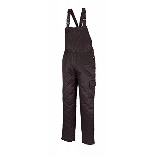 teXXor Kühlhaus-Latzhose Frigo warme Winterhose mit Hosenträgern, L, schwarz, 4310