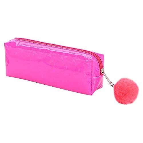LWLEI Bolso de Pluma de poliéster Maquillaje Pincel Organizador Caja de lápices Suministros de Oficina Bolso de la Pluma del Estudiante Azul Song (Color : Pink)
