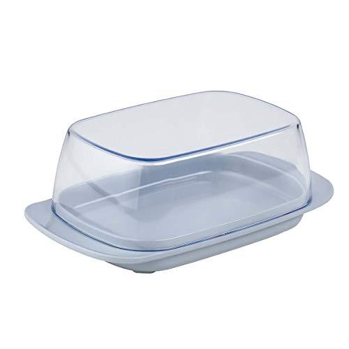 Mepal Beurrier-gris Butterdose grau – für 250 g Butter – transparenter Deckel – passt genau in die Kühlschranktüre – spülmaschinenfest, Melamine/SAN, 17 x 9.8 x 6 cm
