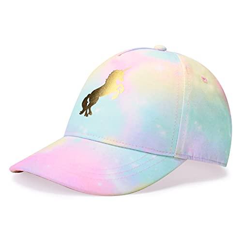 accsa Kids Trucker Hat Girls Baseball Cap Youth Cute Unicorn Toddler Adjustable Snapback Cap for Summer Sports Travel Hiking Hat
