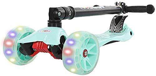 Kinderen Sport Scooter Mini Scooters Vouwen met Verstelbare T-Bar Knipperende Wiel voor 2-8Yr Oude Peuters 80 Kg Lading Niet-Elektrische Outdoor Balance Auto