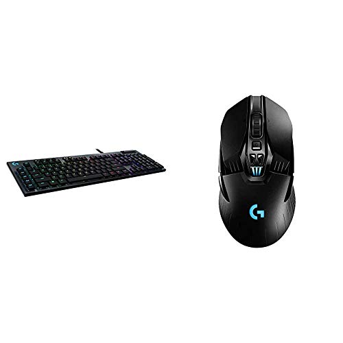 Logitech G815 RGB Mechanical Gaming Keyboard & G903 Lightspeed Wireless Gaming Mouse W/Hero 25K Sensor, PowerPlay Compatible, 140+ Hour with Rechargeable Battery and Lightsync RGB, Ambidextrous