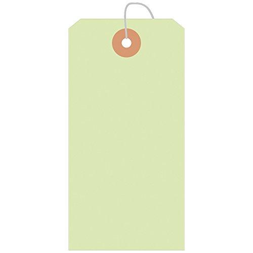 タカ印 タグ 25-2135 荷札B花 縦120mm×横60mm 100枚パック 黄緑