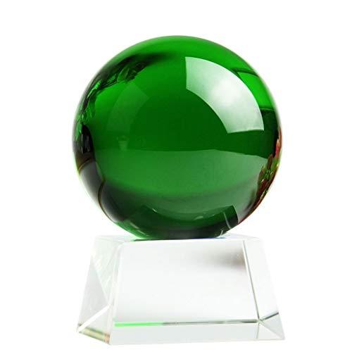 YZERTLH Bola de Cristal Cristal Bola de Vidrio Base Decoración Marco de Madera Báscula Cristal Ball Mediation Reiki Office Desktop Decoration Bola Cristal (Size : B)