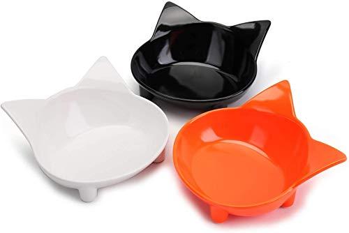 Bekith Katzennapf 3er Set Plastik Futternapf Rutschfest Napf