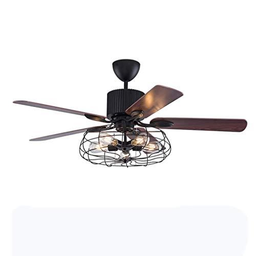 Retro Deckenventilator Mit Licht Amerikanischen Industrie-Stil Deckenventilator Mit Beleuchtung 3 Dateien Einstellbare Windgeschwindigkeit Mit Fernbedienung/Innenbeleuchtung / E27 * 5 Lampen