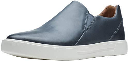 Clarks Men's Un Costa Step Loafer, Dark Blue Leather, 9 W
