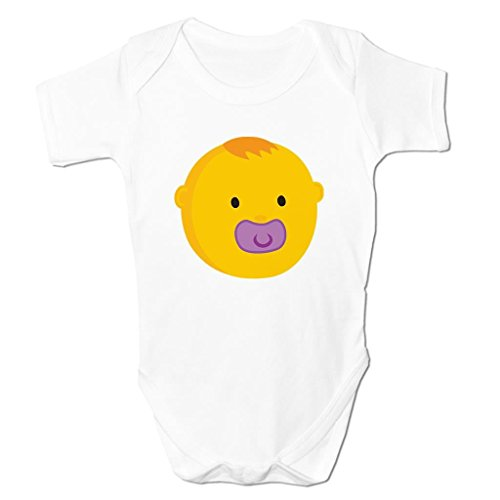 Bang Tidy Clothing Baby Face with Dummy Emoticon Icon Symbol Cartoon Cute Kids Baby Grow