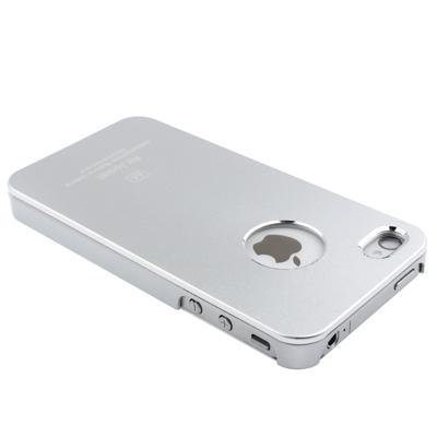 itronik® Metall Aluminium Luxus Hard Hülle HÜLLE TASCHE für APPLE IPHONE 4 4G 4S DELUXE CASE HARDCASE ETUI HÜLLE SCHUTZHÜLLE COVER BUMPER SILBER SILVER