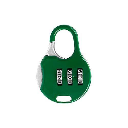 Yaunli Luggage lock Pack Of 12pcs Luggage Locks Travel Combination Code Number Padlock Password Security Padlock Luggage lock safety padlock (Color : Green)