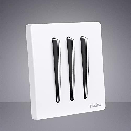 86 Tipo Botón de plata blanco 1-4 Pandillas de pared Pulsador Interruptor de pulsador DUAL DUAL 2 Panel de zócalo de la pared de la pared (Size : 3gang)