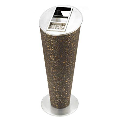 Cubo de basura Basura de acero inoxidable cubo de basura del hotel centro comercial vestíbulo del ascensor vertical puede con Cenicero Lugar Público cono de ceniza cubo 72 × 30,5 cm Residuos Contenedo