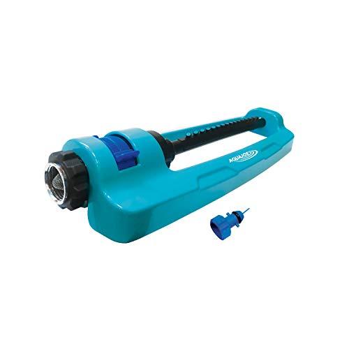 Aqua Joe SJI-OMS16 Indestructible Metal Base Oscillating Sprinkler with Adjustable Spray,...