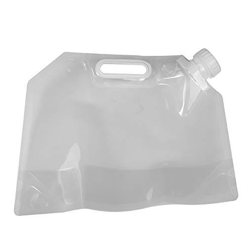 dgtrhted 3L contenedor de Agua Potable Plegable Cubo de Almacenamiento Bolsa de elevación para Acampar al Aire Libre Senderismo
