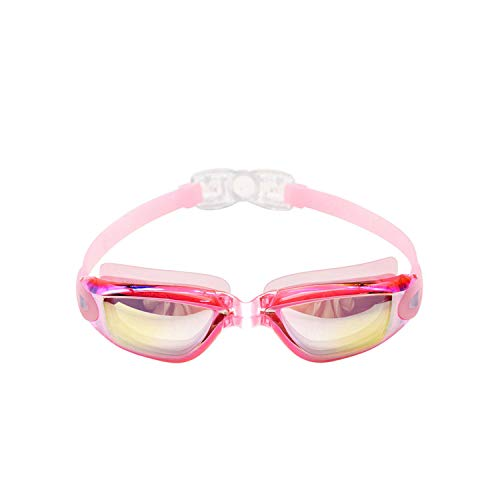 Oudiy Swimming Goggles Men Silicone Waterproof Competitive Professional Sport Glass Water Diving Swim Pool Glasses,Pink