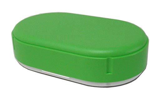 Sonja-Plastic Brotdose, oval, höhenverstellbar, Pastell-hellgrün, Made in Germany