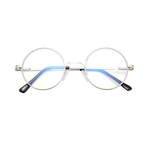 LianSan Retro Rund Damen Herren mit Blaulichtfilter Blockieren Blaue Lesebrille Licht 1,0 1,5 2,0 2,5 3,0 3,5 4,0 von PC, TV und Handy Katzenauge ohne sehstärke Computerbrille