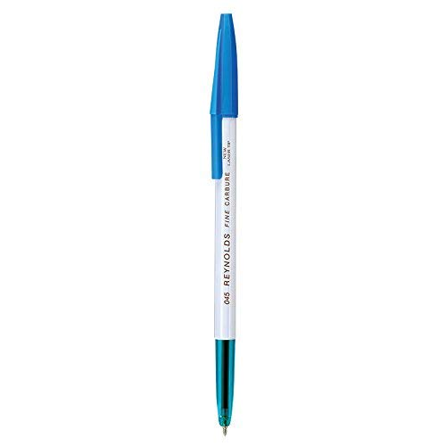 Juego de 10 bolígrafos 045 de punta de bola de carburo fino, color azul de India