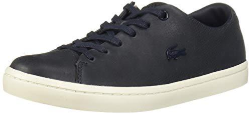 Lacoste Women's Showcourt Sneaker, Navy Perf/Off White, 5 Medium US