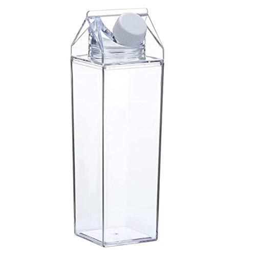 Plastikmilchflasche Gefäß für GeträNke Wasserflasche für Milch Kann Als Wasserflasche As Materialien Verwendet Werden Die Kein BPA Enthalten Nehmen Sie Es Mit Um GeträNke und Saft 500 Ml Zu Wechseln