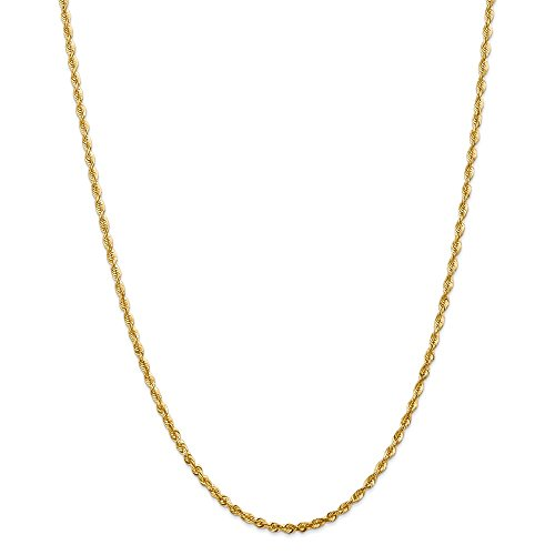 Diamond2deal 14K giallo oro 2.75mm extra-light collana 76,2cm