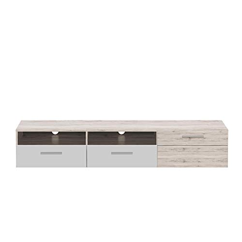 Forte TV LOWBOARD kast COMTE CMXT13 180 cm TV tafel dressoir TV commode zand eiken