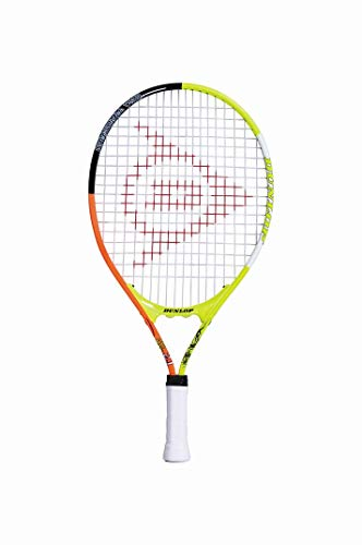 Dunlop Unisex-Youth 674560 Tennisracket JNR 21, Gelb/Orange/Weiß/Schwarz, Gripzize: 000