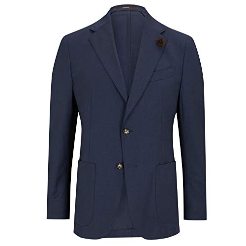 windsor Shaped Fit Sakko 'Travel-W' Marine (405 Dark Blue) 50