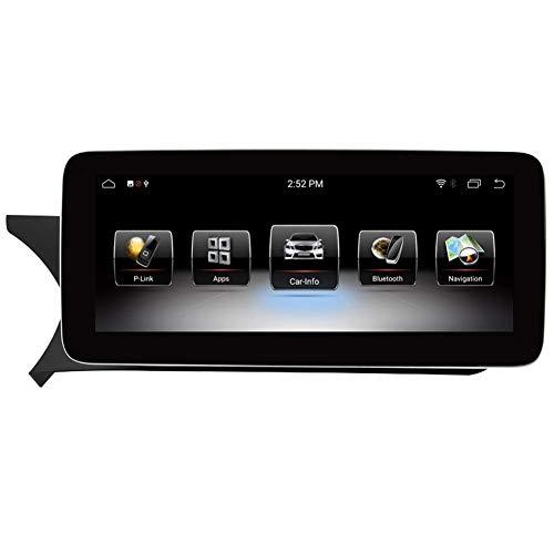 FWZJ Pantalla táctil de navegación para automóvil con Android 9.0 de 10.25'para Mercedes Benz C CLK Class W204 S204 2013 2014, 4GB RAM Pantalla capacitiva de Alta resolución GPS Navegación para
