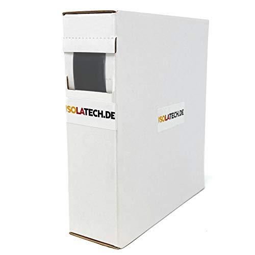 Mini Box 3:1 mit Kleber Schwarz 19,1mm 4m Schrumpfschlauch Rolle in praktischer Spenderbox von ISOLATECH