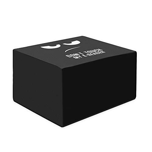 kwmobile Hülle kompatibel mit Canon Pixma MX495 / TR4550 / 4551 - Drucker Staubschutzhülle Schutzhaube Schutzhülle - Don't touch my printer Weiß Schwarz