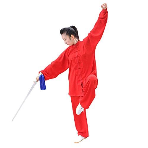 DianshaoA Unisex Tai chi Uniforme Artes marciale, Ropa Traje de Kung fu y Qi Gong de algodón y...