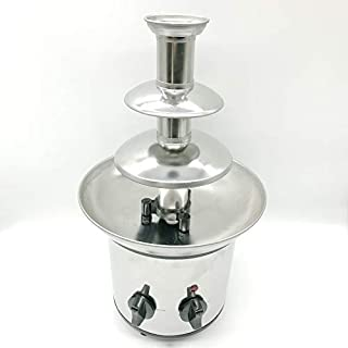 Chocolate Fountain Electric Chocolate Heating Melting Machine Stainless Steel Heating Household Party Chocolate Mixer 3 La...