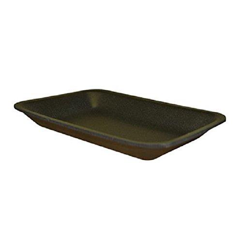 CKF 2BK, 2 Black Foam Meat Trays, Disposable Standard Supermarket Meat Poultry Frozen Food Trays, 125-Piece Bundle