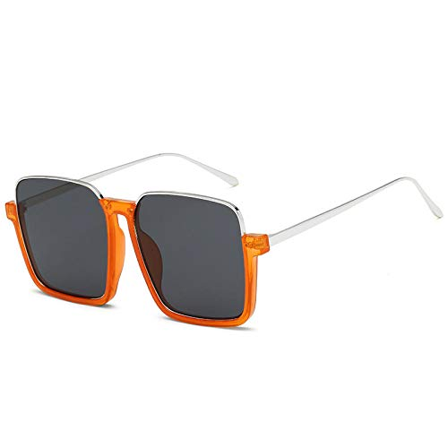 Gosunfly Disparo femenino marea temperamento cara mostrar cara delgada y redonda personalidad nueva marea-naranja caja negro gris