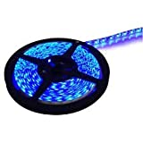 MTC 5 Meter Waterproof and Cuttable LED Strip Light with adapter - Blue