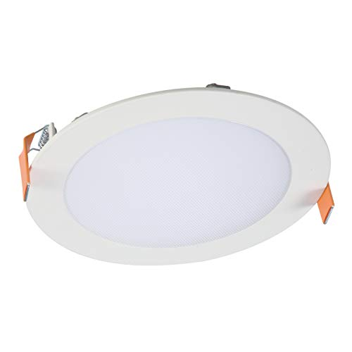 HALO HLB6099401EMWR HLB 6 in. 4000K Color Temperature New Construction or Remodel Canless Integrated Kit LED Recessed Trim, 6 Inches, White