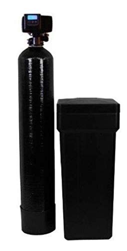 AFWFilters 80k On Demand Water Softener with Resin Made in USA/Canada, 80,000 Grains, Black