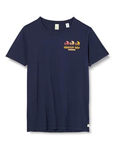 Scotch & Soda Shrunk Jungen Sundown Surf T-Shirt, Blau (Night 0002), 176 (Herstellergröße:16)