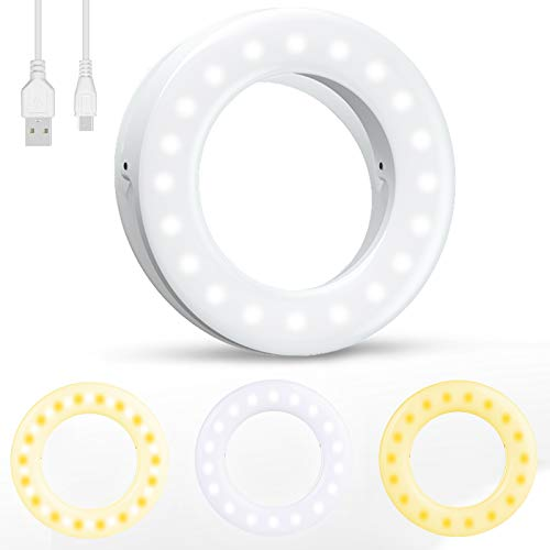 Selfie Light, [Upgraded Version] Diyife Rechargeable Selfie Ring Light,...