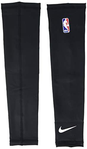 NIKE Shooter Sleeves NBA Mangas, Unisex Adulto, Multicolor (Negro/Blanco), S/M