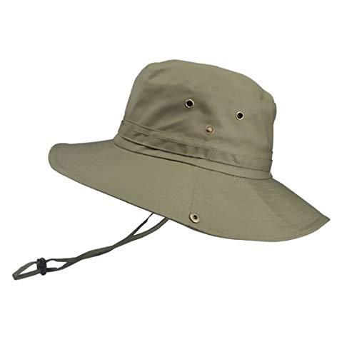 Hexcbay Hombres Sombrero de Pescador Verano Protección UV Sombreros de al Aire...