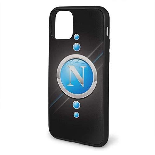 Compatibile con iPhone 12/11 PRO Max 12 Mini SE X/XS Max XR 8 7 6 6s Plus Custodie SSC Napoli Nero Custodie per Telefoni Cover
