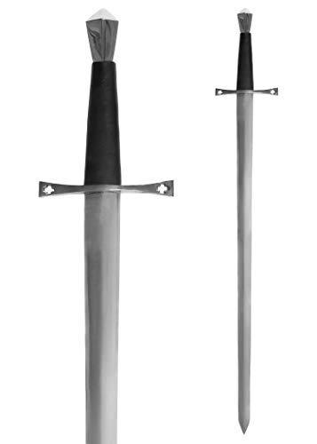 Battle-Merchant Mittelalterliches Schwert Einhänder aus Stahl Gesamtlänge 96 cm - Metall echt Erwachsene - Templerschwert