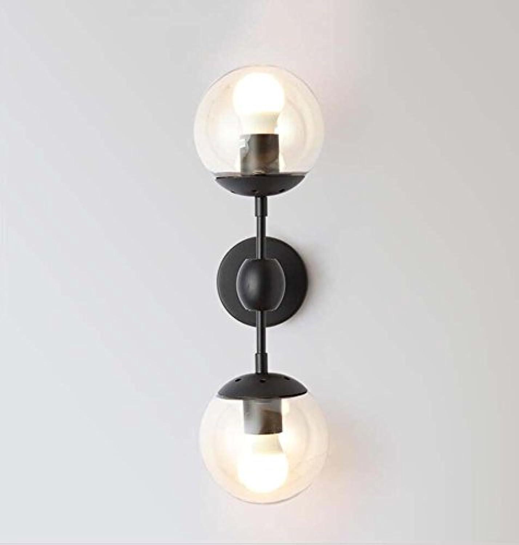 Retro Wandleuchte, Nordic Kreative Magic Bean Glas Wandleuchte, Arbeitszimmer Nachttisch Schmiedeeisen Wandleuchte E27 (ohne Lichtquelle) YDYG (Farbe   3 heads)