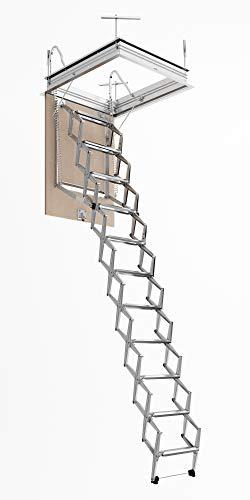 Escalera Escamoteable Pantógrafo Buhardilla pantógrafo manual lado S50