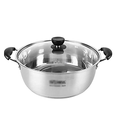 ZLJ Pentola pentola per zuppa in Acciaio Inossidabile 304 per Uso Domestico pentola (26 28 30 cm) per 1-4 Persone per fornello a Gas fornello a induzione Pentola (Dimensioni: 28 cm)