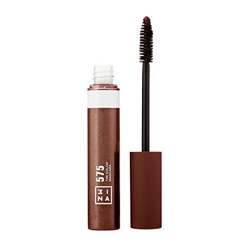 3INA Cosmetics Makeup - Vegan - Cruelty Free - The Color Mascara 575 - Bunter Mascara für Volumen und Länge - Bunte Wimperntusche - Hochpigmentiert - Langhaltende und Wasserfest - Braun
